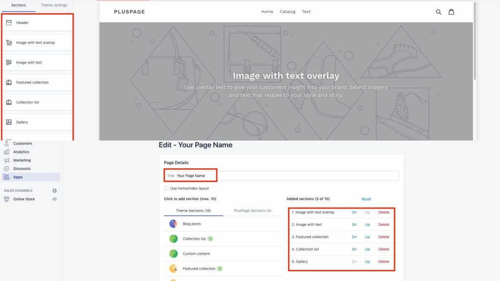 How to add home page sections in any page in your Shopify store